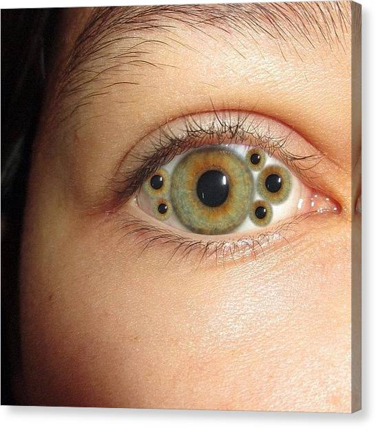 Spam Canvas Print - #eye #edit #eyes #awesome #spam #daily by Zoe Sutter