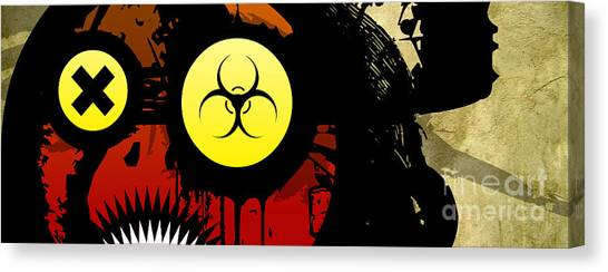 Resident Evil Canvas Print - Eye For The Apocalypse by Jeff Danos