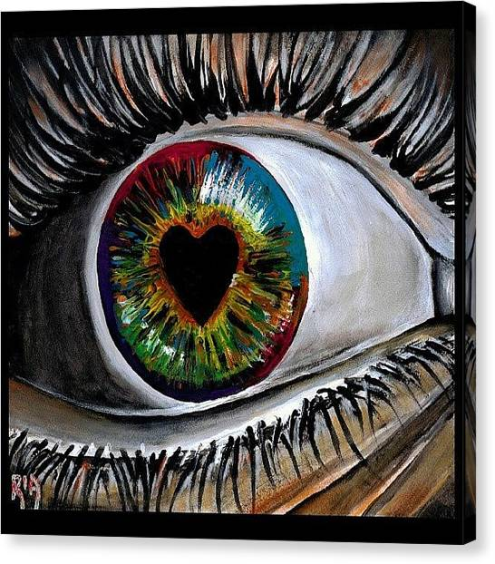 Rainbows Canvas Print - Eye Love You by Artist RiA