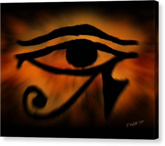 Egyptian Art Canvas Print - Eye Of Horus Eye Of Ra by John Wills