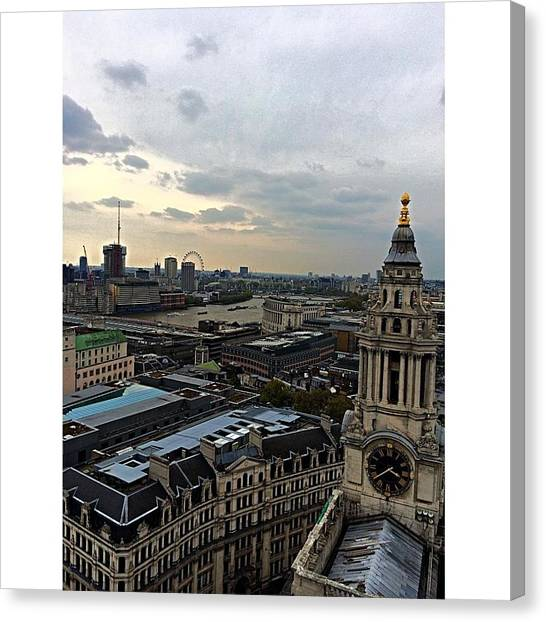 London Eye Canvas Print - Eye Of London  by Peyton  Turbeville