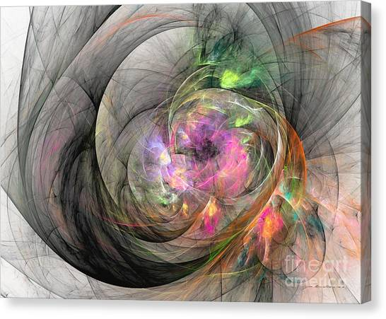 Canvas Print featuring the digital art Eye Of The Beauty by Sipo Liimatainen