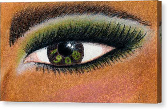 Alpha Kappa Alpha Canvas Print - Eye Of The Beholder Series- 1908 by BFly Designs