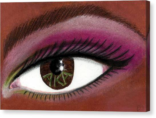 Alpha Kappa Alpha Canvas Print - Eye Of The Beholder Series- A K A 2 by BFly Designs