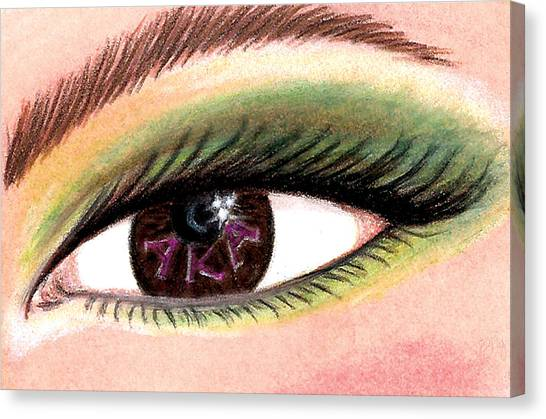 Alpha Kappa Alpha Canvas Print - Eye Of The Beholder Series- A K A by BFly Designs