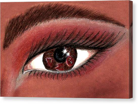 Delta Sigma Theta Canvas Print - Eye Of The Beholder Series- D S T by BFly Designs