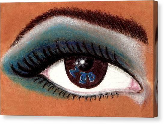Zeta Phi Beta Canvas Print - Eye Of The Beholder Series- Z Phi B by BFly Designs