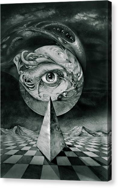 Eye Of The Dark Star Canvas Print