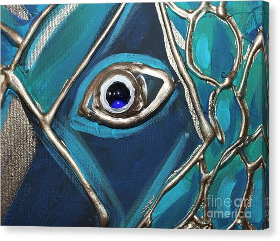 Eye Of The Peacock Canvas Print