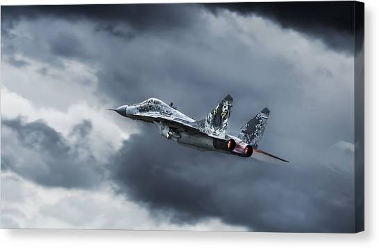 Air Force Canvas Print - Eye Of The Tiger by Leon