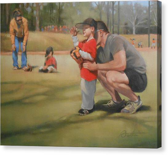 Dad Canvas Print - Eye On The Ball by Todd Baxter
