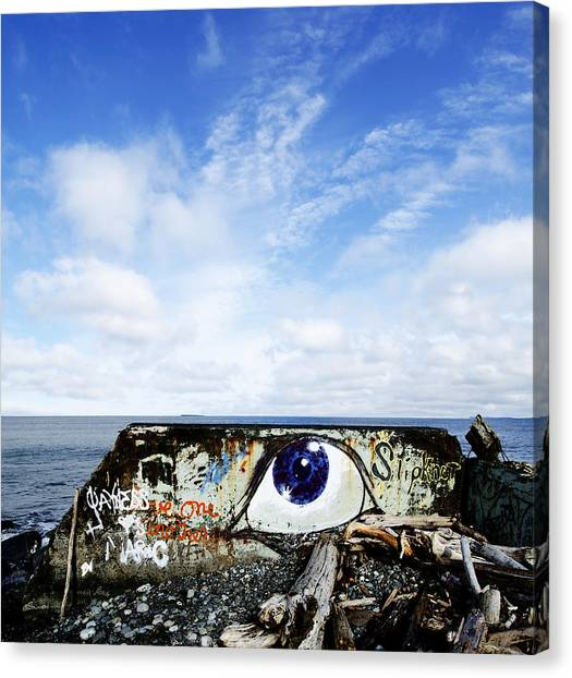Eye On The Strait Canvas Print