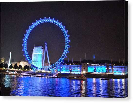 London Eye Canvas Print - Eye See You. by Charlyne Dhenin