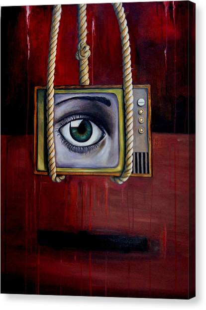 Big Brother Canvas Print - Eye Witness by Leah Saulnier The Painting Maniac