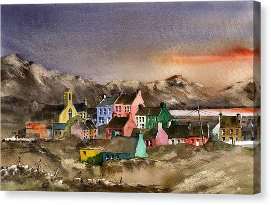Eyeries Village Beara West Cork Canvas Print