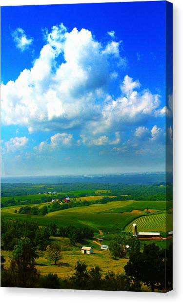 Eyes Over Farmland Canvas Print