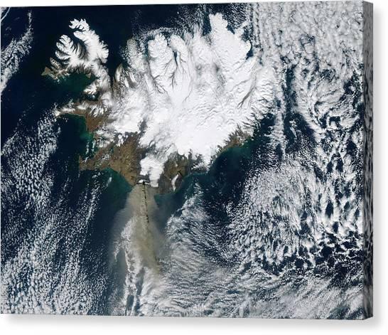 Eyjafjallajokull Canvas Print - Eyjafjallajokull Eruption by Nasa/science Photo Library