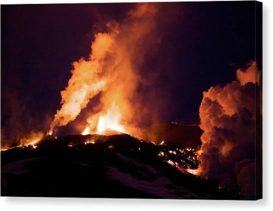 Eyjafjallajokull Canvas Print - Eyjafjallajokull Lava Flow by John Beatty/science Photo Library