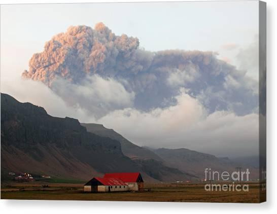 Eyjafjallajokull Canvas Print - Eyjafjallajokull Volcano by Stephen & Donna O'Meara