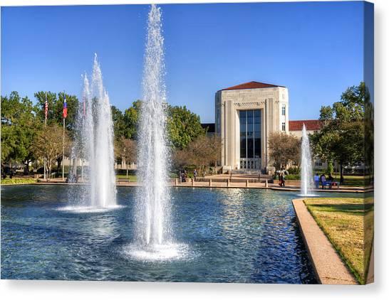 University Of Houston Canvas Print - Ezekiel W. Cullen Building by Tim Stanley