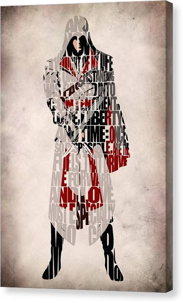 Media Canvas Print - Ezio - Assassin's Creed Brotherhood by Inspirowl Design