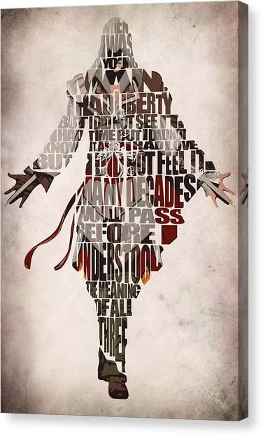 Design Canvas Print - Ezio Auditore Da Firenze From Assassin's Creed 2  by Inspirowl Design