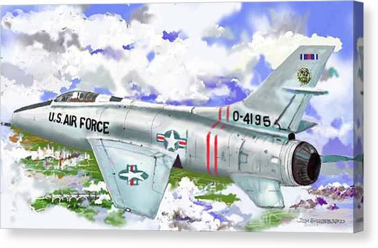 F-100 D Super Sabre Canvas Print