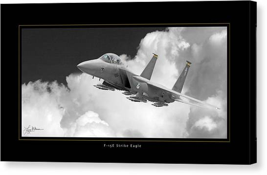 F-15e Strike Eagle Canvas Print by Larry McManus
