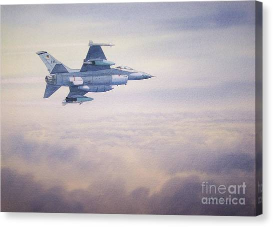 F16 Canvas Print - F-16 Fighting Falcon by Bill Holkham