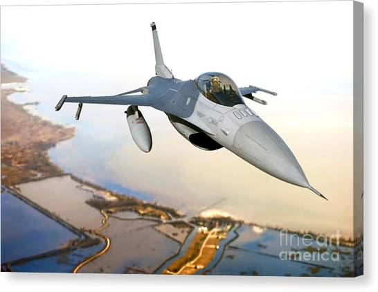 F16 Canvas Print - F-16 Fighting Falcon by Olivier Le Queinec