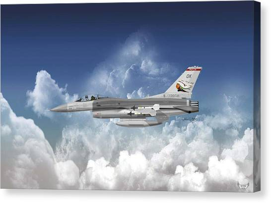 F-16c Falcon Canvas Print by Arthur Eggers