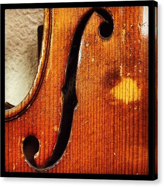 Music Canvas Print - F-hole by Ken Powers