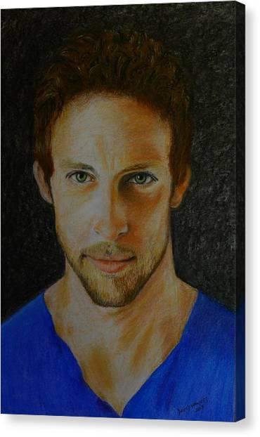 F1 Jenson Button Canvas Print by David Hawkes