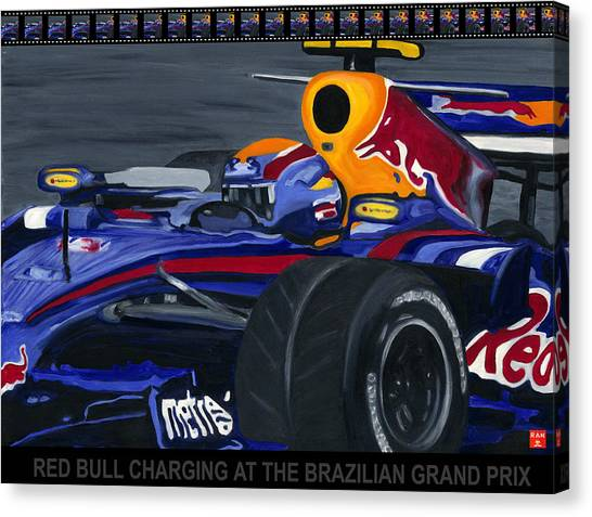 F1 Rbr At The Brazilian Grand Prix Canvas Print