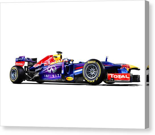 Formula 1 Canvas Print - F1 Red Bull Rb9 by Gianfranco Weiss