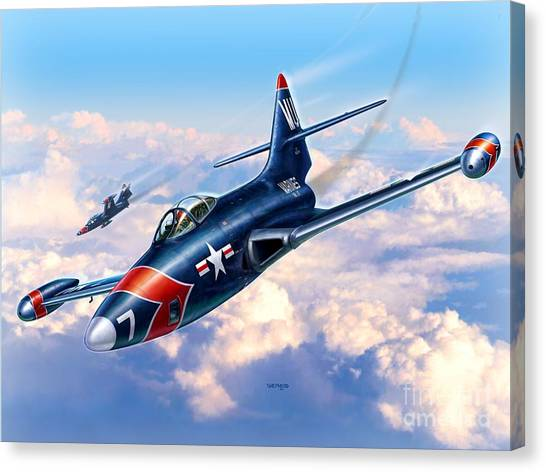 Panthers Canvas Print - F9f-5p Photo Panthers by Stu Shepherd
