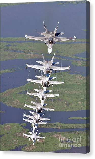 New Orleans Hornets Canvas Print - Fa18 Hornets Assigned The River Rattlers by Paul Fearn