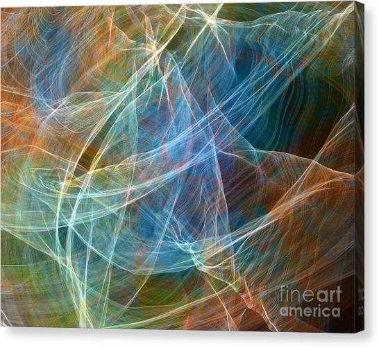 Fabric Nebula Canvas Print