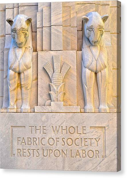 Fabric Of Society Canvas Print - Fabric Of Society by Frozen in Time Fine Art Photography