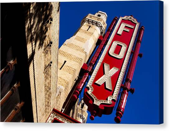 Canvas Print featuring the photograph Fabulous Fox In Atlanta by Mark E Tisdale