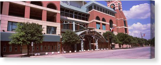 Houston Astros Canvas Print - Facade Of A Baseball Stadium, Minute by Panoramic Images