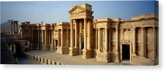 Syrian Canvas Print - Facade Of A Building, Palmyra, Syria by Panoramic Images