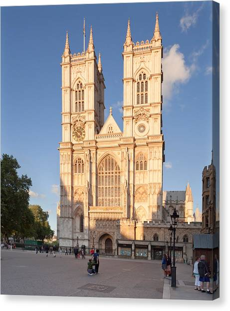 Westminster Abbey Canvas Print - Facade Of A Cathedral, Westminster by Panoramic Images