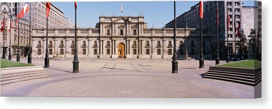 Flagpole Canvas Print - Facade Of A Palace, Plaza De La Moneda by Panoramic Images