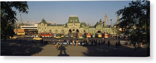 Primorsky Krai Canvas Print - Facade Of A Railroad Station by Panoramic Images