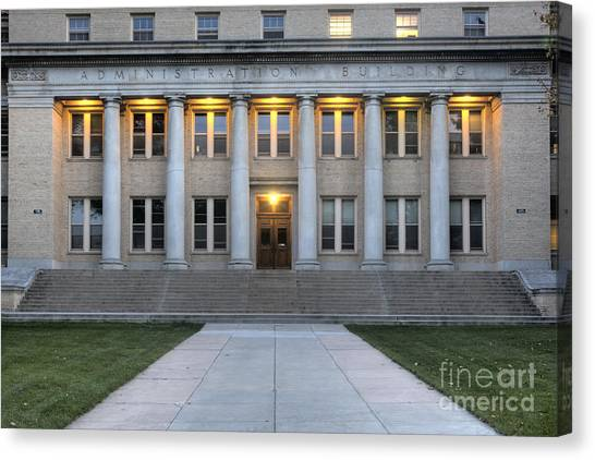 Colorado State University Canvas Print - Facade Of Administration Building  by Marek Uliasz