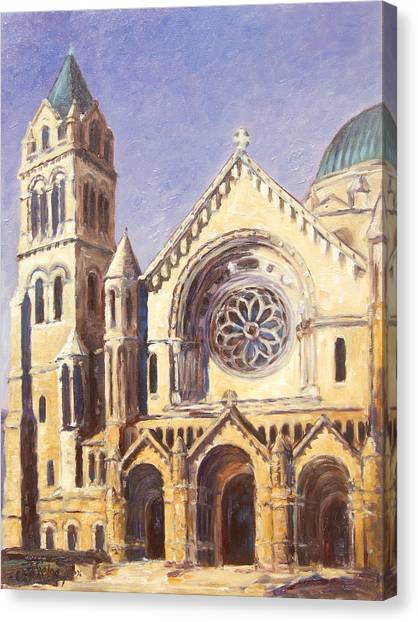 Facade Of Cathedral Basilica In St.louis Canvas Print