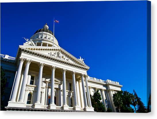 Big West Canvas Print - Facade Of The California State Capitol by Panoramic Images