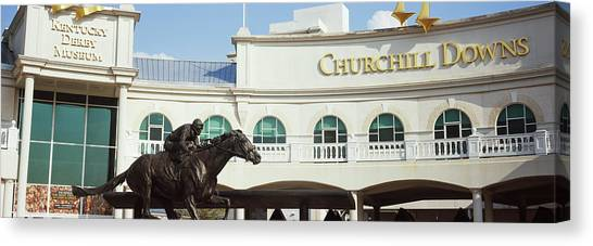 Kentucky Derby Canvas Print - Facade Of The Kentucky Derby Museum by Panoramic Images