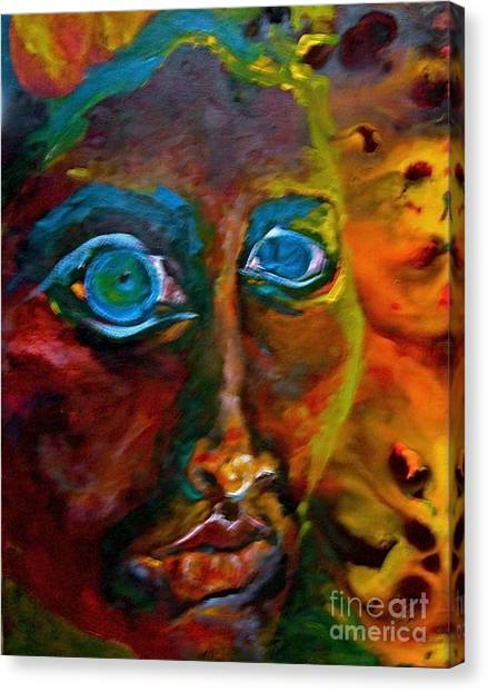 Face 6 Canvas Print by Michelle Dommer